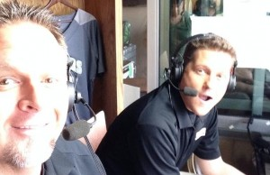 LHN baseball play-by-play commentator Kevin Dunn (right) and analyst Greg Swindell. (Photo courtesy Greg Swindell)