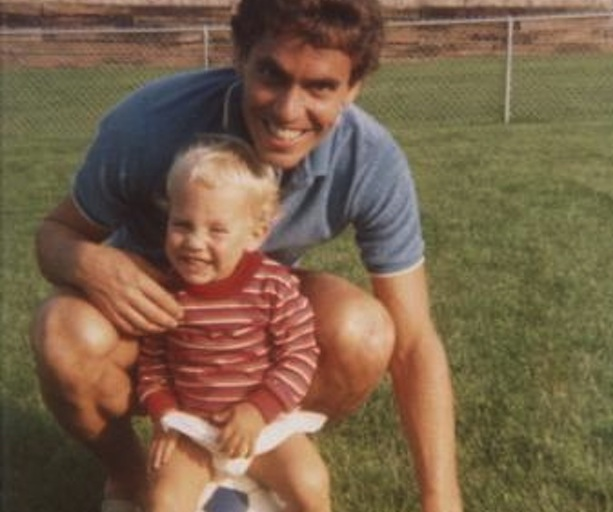 Taylor's father Tim played pro soccer in the old NASL. (Photo courtesy of Taylor Twellman)