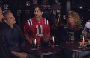 "Gary Gulman (wearing No. 11) is one of six comedians appearing in SportsCenter's new ""Enemy Territory"" features airing this weekend."
