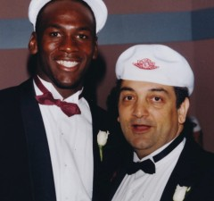 Michael Jordan with Sonny Vaccaro. (ESPN Films)