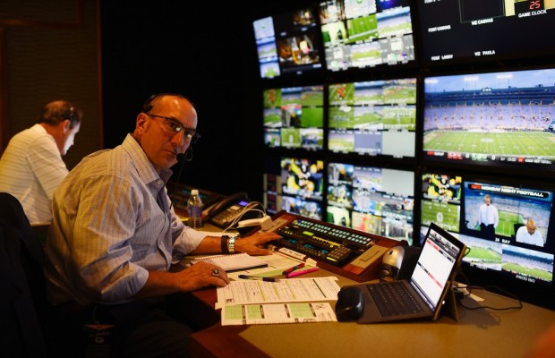 Inside the production truck during a regular season Monday Night Football game (Joe Faraoni/ESPN)