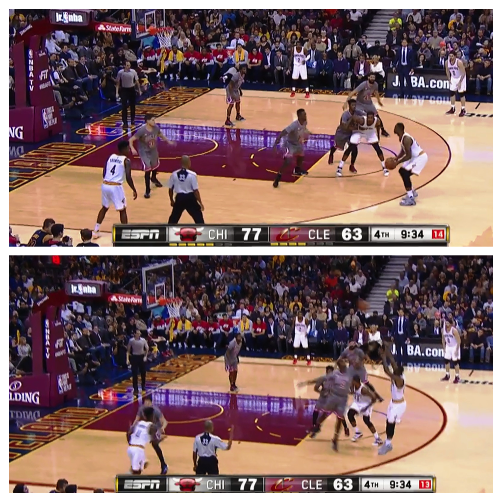 ESPN Virtual 3 technology will illuminate the three-point line when such shots are attempted.