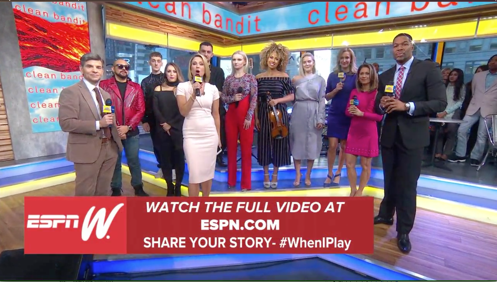Earlier this month, the cast of ABC's Good Morning America helped promote espnW's #WhenIPlay video.