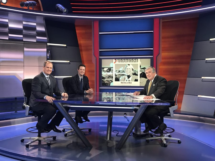 (L-R) Don Van Natta Jr., Seth Wickersham and host Bob Ley discussed ESPN's investigation into the Raiders' relocation.
